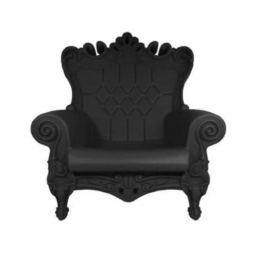 Armchair Queen black 102x109 cm.
