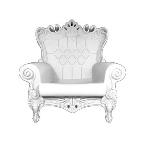 Armchair Queen white 102x109 cm.