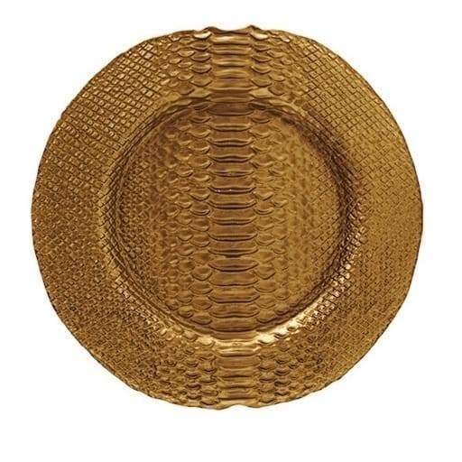 Bajo plato dorado 32 cl.