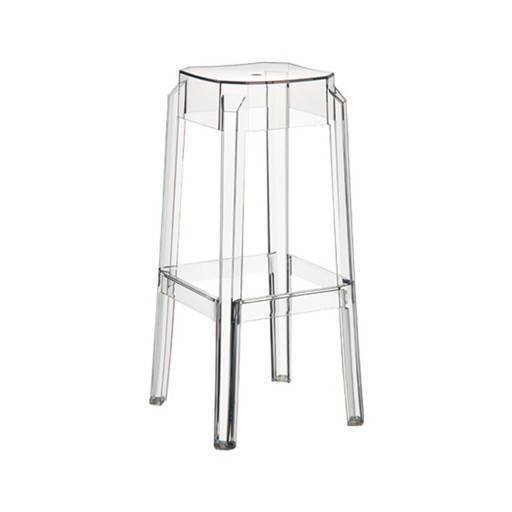 Bar Hocker transparent/ 1 46 cm.