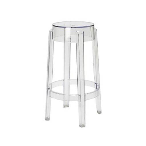 Bar Hocker transparent/ 2 46 cm.