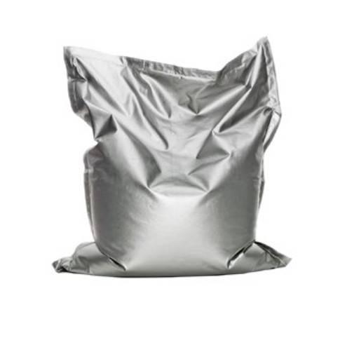 Bean Bag Plateado 135x165 cm.