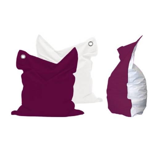 Bean Bag purple/white 135x165 cm.