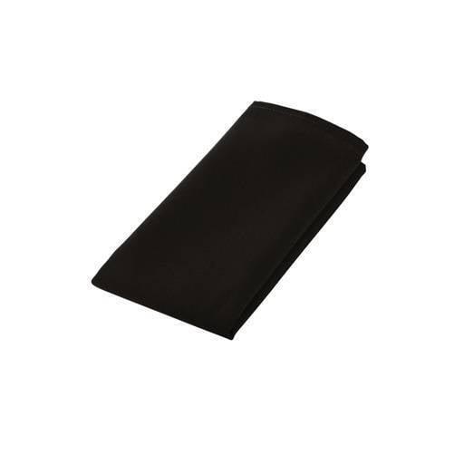 Black serviette 50x50 cm.