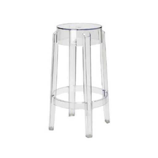 High stool transparent/2 46 cm.