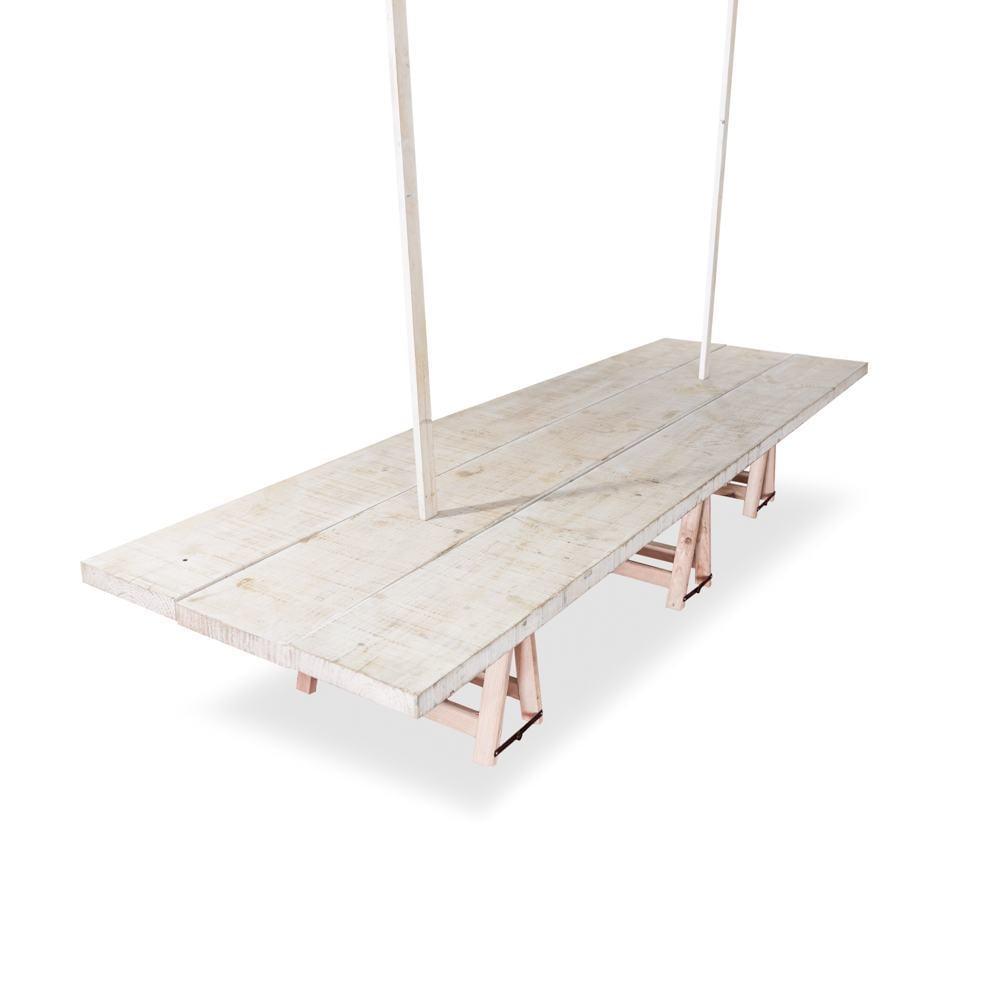 Holztisch niedrig Big T 90x300 cm.