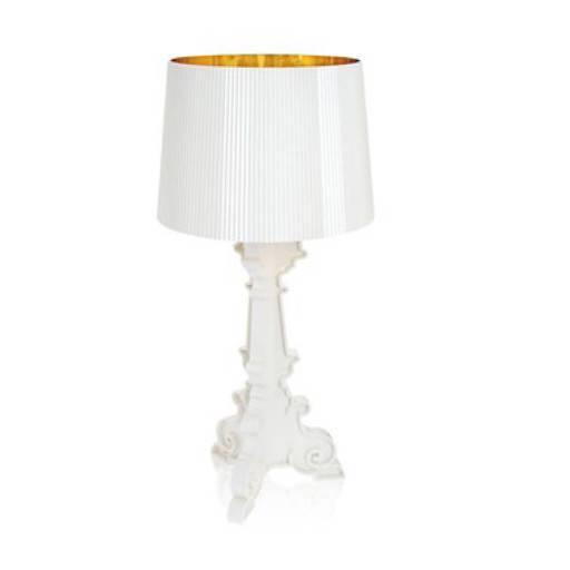 Lampara blanco/oro 37 cm.