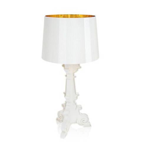Lampe Weiß/Gold 37 cm.