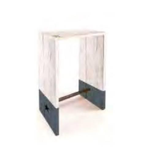 Mesa madera alta - Che 80x80 cm.