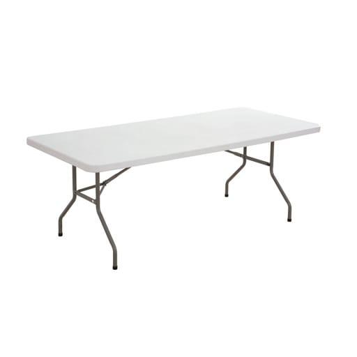 Mesa rectangular plegable 90x200 cm.