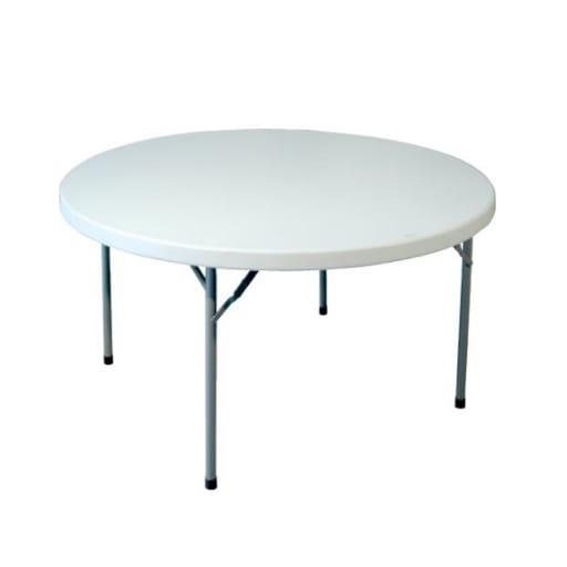 Mesa redonda plegable 180 cm.