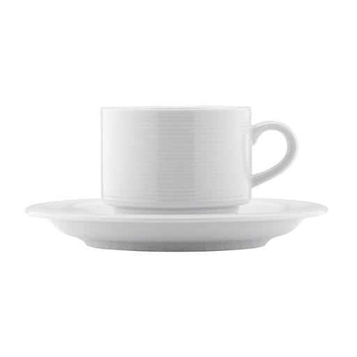 Milk coffee cup & saucer *spoon incl.