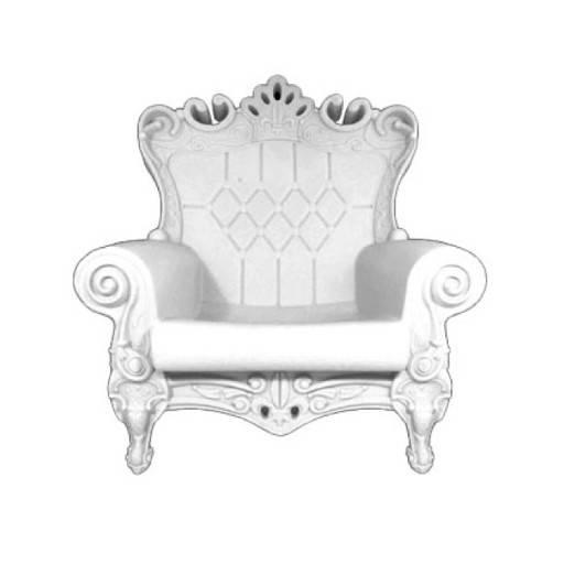 Sillon Reina blanco 102x109 cm.