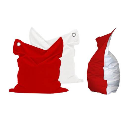 Sitzsack rot/weiss 135x165 cm.