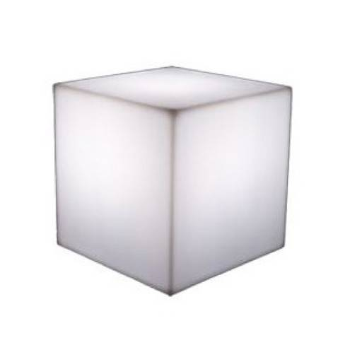 Stool Cube white Led 43x43 cm.