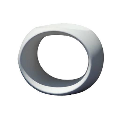 Taburete cero blanco 40x57 cm.