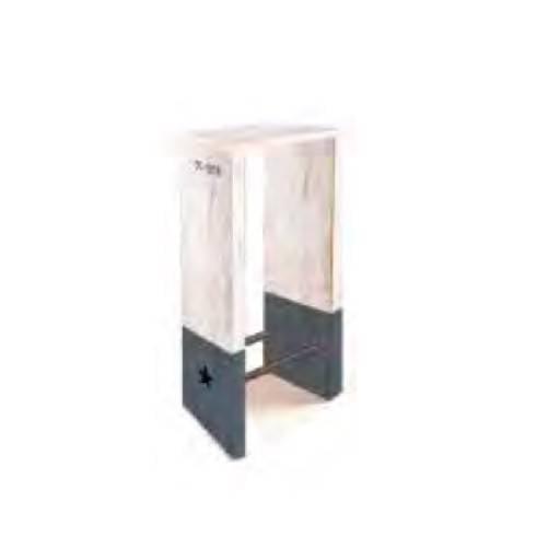 Taburete madera - Che 30x30 cm.