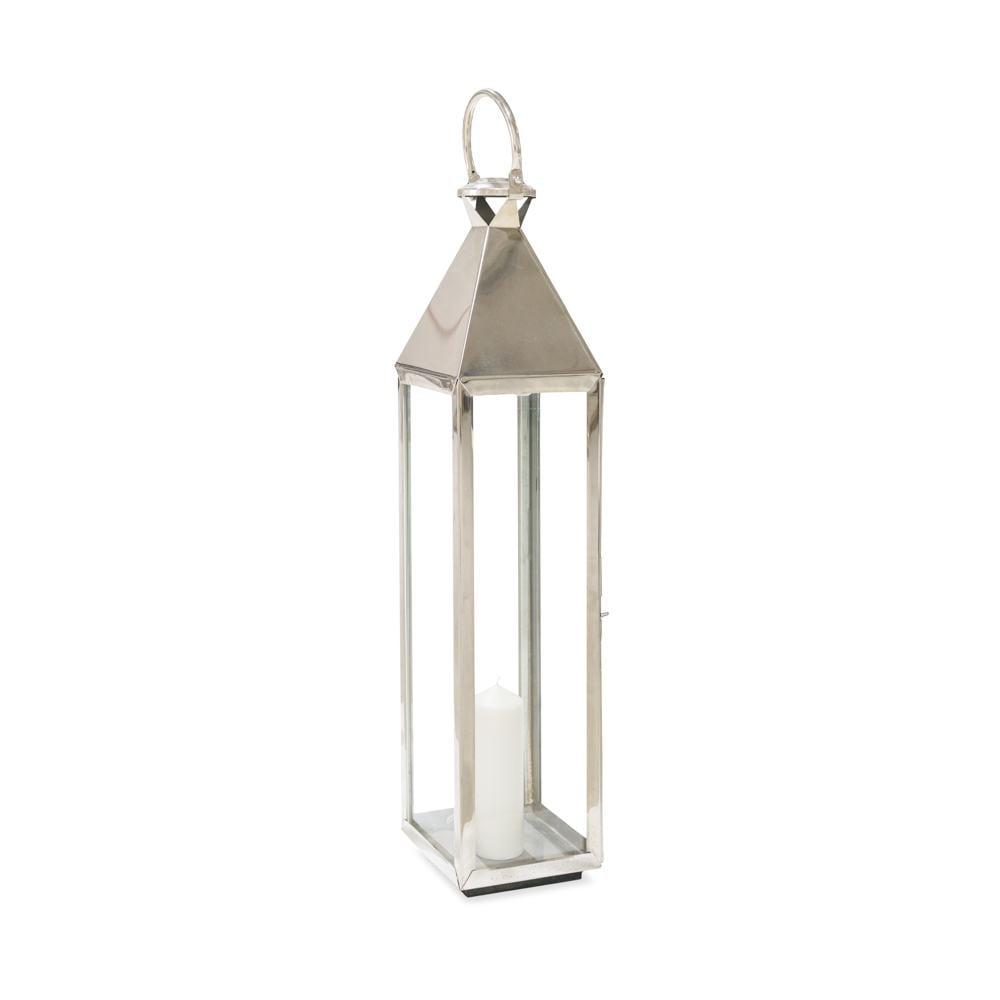 Windlicht Lanterne Silber XL * Kerse Inkl. 22x22 cm.